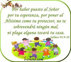 Salmos Proverbios y Citas Bíblicas: Salmos 91:9-10