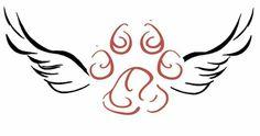 Dog angel tattoo