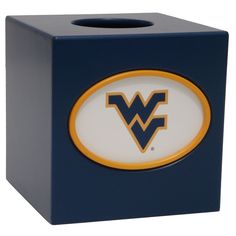 West Virginia Mountaineers Tissue Box Cover, Multicolor