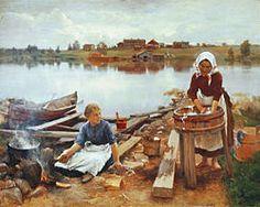 Eero Järnefelt – Pyykkiranta, 1889 - Wikipedia