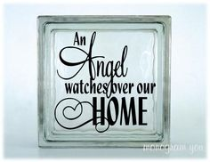 Glass Block Vinyl Decal 'An Angel watches over our by MonogramYou, $5.95