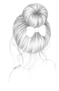 Craft ideas 793689134301431892 - Chignon danseuse Plus Source by romigrenier Pencil Art Drawings, Love Drawings, Art Drawings Sketches, Easy Drawings, Beautiful Drawings, Drawings Of People Easy, Beautiful Girl Drawing, Art Du Croquis, Hair Sketch