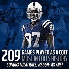 209 Games played as a colt - most in colts history - Congratulations, Reggie Wayne! Cool Football Helmets, Best Football Team, Watch Football, Football Baby, Football Season, Nfl Colts, Lucas Oil Stadium, Hometown Heroes, Football Wallpaper