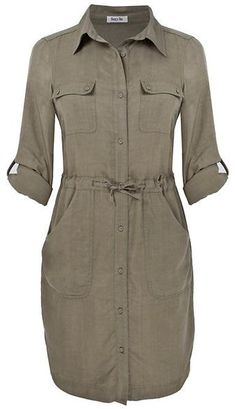 Lazy Lu Gray Tencel Shirt Dress...I like shirt dresses, okay?!