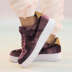Sneakers women - Nike Air Force 1 velvet burgundy