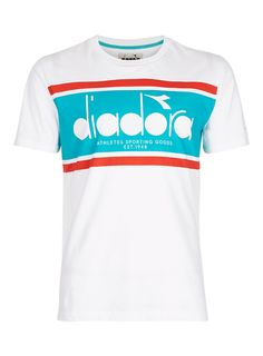 DIADORA White Stripe Logo T-Shirt - Men's T-Shirts & Vests - Clothing - TOPMAN EUROPE