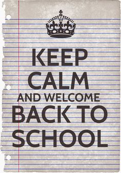 Keep Calm Adn Welcome Back To School - Poster Freebie… Back To School Meme, Back To School Party, Welcome Back To School, Going Back To School, School Memes, School Stuff, Middle School, Beginning Of School, New School Year