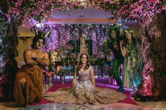 Com toques criativos de fantasia, a debutante criou um cenário encantador para sua comemoração