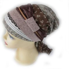 Apron style headcover / mitpachat / tichel / snood by stitchyshop, $37.00