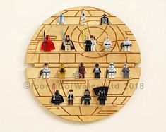 Themed Mini Toy Figurine Storage Display Shelf (SMALL), Holds approx. 22 figures. Varnished Lacquered Birch Plywood - 30cm x 30cm