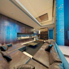 Sala, chimenea y escalera: Salas de estilo moderno por Nova Arquitectura