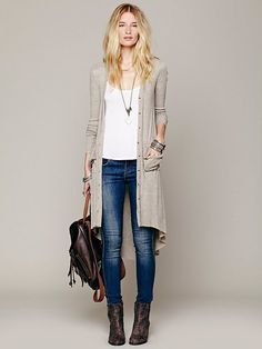 Maxi Cardigan by Free People love this outfit for fall! Easy & looks comfortable! ⭐️✨repinned by @ willswife102712