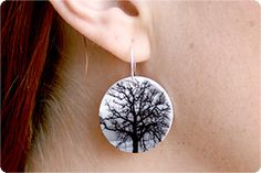 Photo Earrings: Using biaxially oriented thermoplastic polystyrene, ie Shrinky Dinks, and your inkject printer.