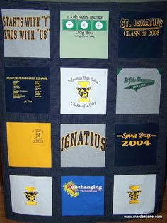 Save Tshirts from meaningful events/occasions through out the school years and then make them into a t-shirt quilt for grad