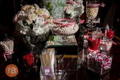 White and red theme candy bar. Perkins Chapel SMU and Belo Mansion. Dallas Wedding Photography