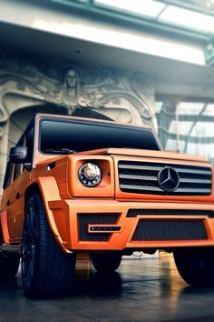 Orange Mercedes G Wagon