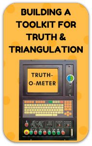 """Truth, truthiness, triangulation: A news literacy toolkit for a """"post-truth"""" world.  Joyce Valenza."""