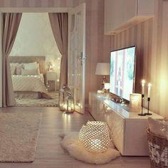 Good night livingroom night friday home candles