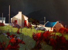 Irish Light, County Mayo, by Michael O'Toole Vancouver, British Columbia, Canada) Canadian Painters, Canadian Art, Landscape Art, Landscape Paintings, County Mayo, Art And Architecture, Art Oil, Impressionist, Painting Inspiration