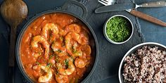 Gryteretten gumbo i en gryte. Healthy Comfort Food, Gumbo, Fish And Seafood, Nom Nom, Side Dishes, Curry, Healthy Recipes, Dinner, Eat