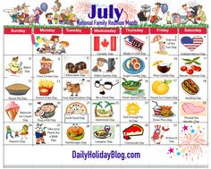 Free Monthly Holidays Calendars to Upload!