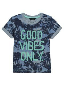 Browse our new arrivals to boys' clothes, perfect if you're looking to update his style with a fresh new look. Choose from jeans and shirts to shoes & more. Ibiza 2016, Kids Tops, Asda, Kids Online, Good Vibes Only, Graphic Prints, Boys, T Shirt, Clothes
