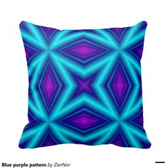 Blue purple pattern pillows