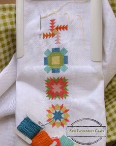 LMS - Quilty  Cross stitch blocks 1-4 - Sew Incredibly Crazy