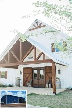 What is the first thing that comes to mind when you hear about barndominium floor plans? Based on the first combo, it is a combination style between a barn house with a condominium. A barn house is… Modern Farmhouse, Farmhouse Style, Farmhouse Design, Country Style, Farmhouse Remodel, White Farmhouse, Antique Farmhouse, Rustic Style, Barndominium Floor Plans