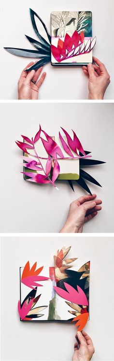 Sneak a peek at multi-media artist Eva Magill-Oliver's elegant collection of pop-up collages. #abstractart