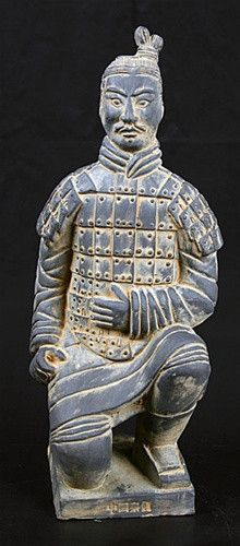 "Archer Terracotta Warriors Xian Statue, 14""H, reproduction of terracotta warriors from xian, kneeling archer statue, terra cotta warriors museum store – Museumize"