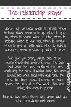 Relationship Prayer
