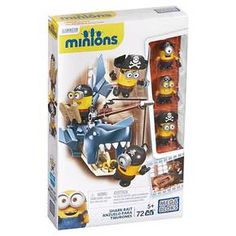Minions and a great white shark – what could possibly go wrong? After casting their lines, these three Minion pirates have just fished up more than they expected, turning them into Shark Bait by Mega Bloks Minions. You can build the shark with its moveable tail and opening jaw. If a Minion gets too close, the other two can use the fishing rod to reel him back to safety! Distract the shark by tossing him a banana to keep his appetite at bay. The Minions come with interchangeable part...