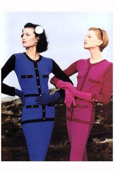 Shalom Harlow and Kristen McMenamy- Chanel Campaign 1996 Photo Karl Lagerfeld b