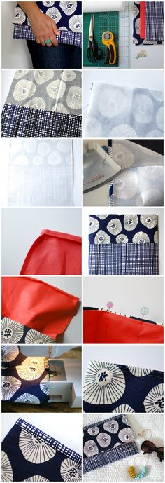 The super-easy way to make a fabric envelope clutch via Crafttuts+.