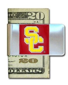 USC Trojans Steel Money Clip by Siskiyou. $7.84. Stainless Steel Clip. Officially Licensed. Sculpted and Enameled Team Emblem. NCAA USC Trojans Steel Money Clip