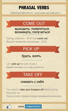Phrasal verbs | Come out, pick up, take off, put on, come over.