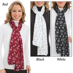 Winter Snowflake Woven Scarf