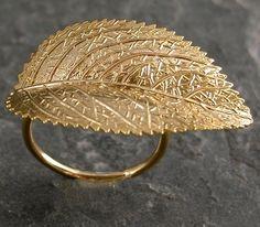 ...gold leaf ring