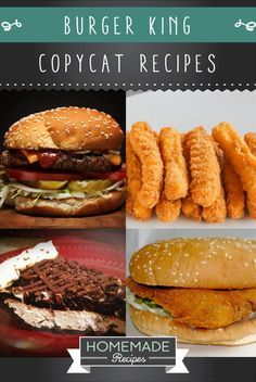 9 Burger King Copycat Recipes   http://homemaderecipes.com/9-burger-king-copycat-recipes/
