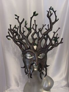 Tree Leather Mask by kmickel on Etsy, $250.00
