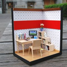 Study Room # miniatures, room box