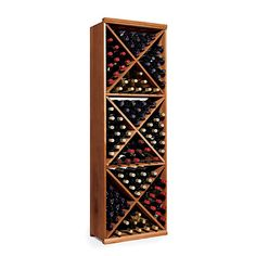 Buy the N'FINITY Wine Rack Kit - Diamond Cube at Wine Enthusiast – we are your ultimate destination for wine storage, wine accessories, gifts and more! Wine Bottle Rack, Bottle Wall, Wine Racks, Wine Bottles, Wine Cellar Innovations, Hanging Wine Glass Rack, Wine Storage Cabinets, Dark Walnut Stain, Cube
