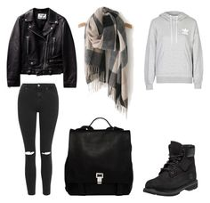 """""""Untitled #472"""" by aatk on Polyvore featuring adidas, Topshop, Timberland, Proenza Schouler, women's clothing, women's fashion, women, female, woman and misses"""