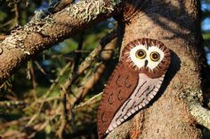 Northern Saw-whet Owl Felt Ornament Pattern