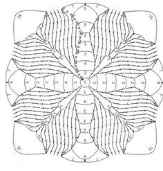 How to Crochet a Solid Granny Square Crochet Motif Patterns, Crochet Blocks, Crochet Diagram, Crochet Squares, Crochet Chart, Crochet Granny, Crochet Designs, Crochet Stitches, Knitting Patterns