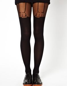 ASOS Hand Suspender Over The Knee Tights