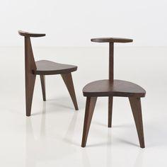 Mira Nakashima; Walnut Musicians' Chairs, 2003.