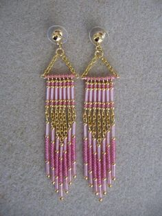 seed bead earrings: