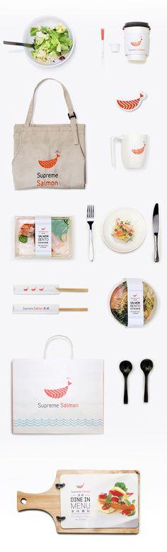 品牌建置 | Supreme Salmon 美威鮭魚 by Ming Island Design , via Behance. Yumm #identity #packaging #branding PD